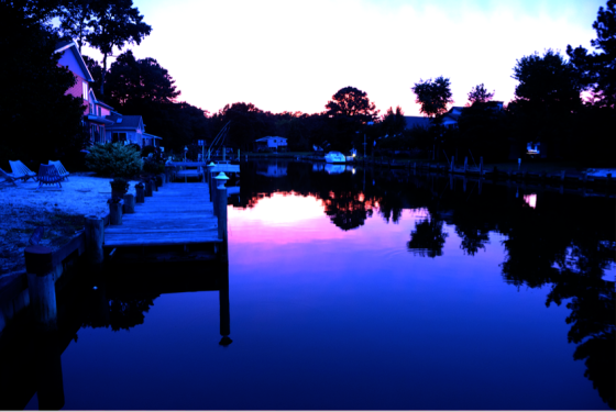 dock sunset 32 bit
